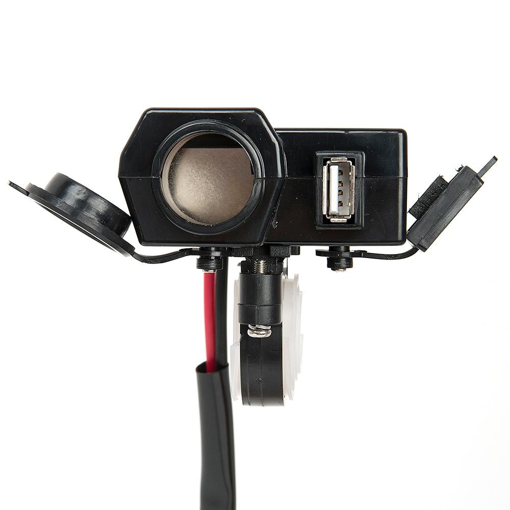 Impermeable 12 V motocicleta Moto USB Scooter encendedor de - Electrónica del Automóvil - foto 4