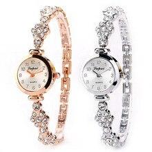 Women's watch Fashion relogio feminino Stainless Steel Crystal Dial Quartz Bracelet Luxury Wrist Watch