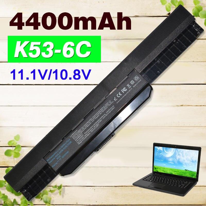 4400 mAh Batterie D'ordinateur Portable pour Asus A32 k53 A42-K53 A31-K53 A41-K53 A43 A53 K43 K53 K53S X43 X44 X53 X54 X84 X53SV X53U X53B X54H