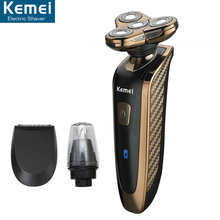 KEMEI 3 in1 363 Washable 4 Heads Electric Razor Rechargeable Electric Shaver four Blade Shaving Razors Men Face Care 5D Floating