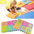 36 шт. Пены EVA Алфавита Номер Мат Baby Дети 3D Пазлы Развивающие Игрушки Для детей Мягкой Складывающейся Ползет ковры