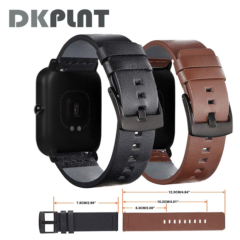 все цены на Genuine Leather Strap For Xiaomi Huami Amazfit Bip strap bracelet Youth Smart Watch wristwatch band smart accessories
