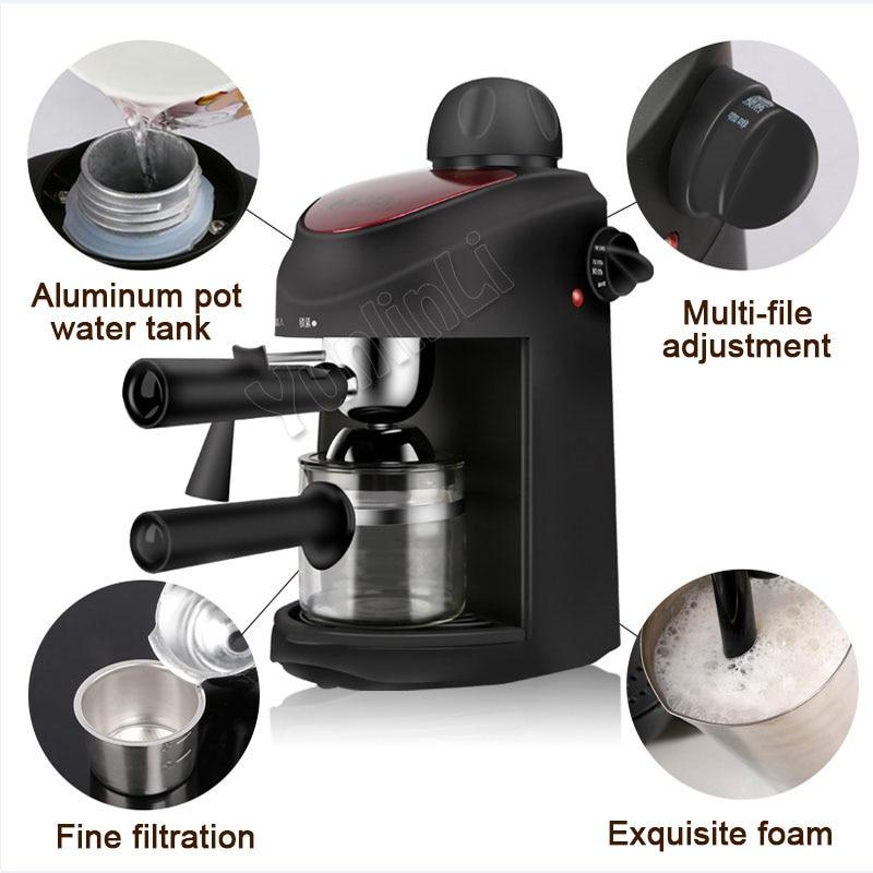 Semi Automatic Espresso Coffee Machine High Pressure Coffee Maker Steam Type Foam Coffee Machine CM-8009 automatic capsule coffee makers machines espresso