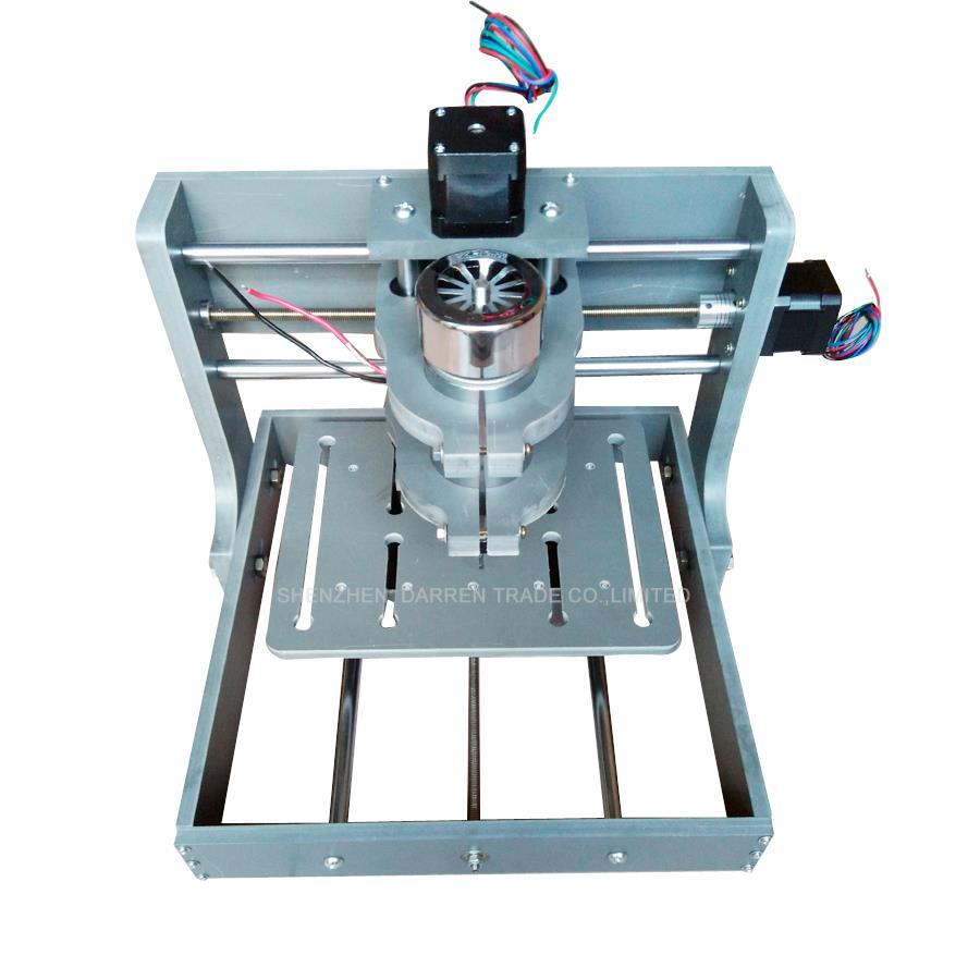 1 pièces bricolage CNC sculpture sur bois Mini Machine de gravure PVC moulin graveur Support MACH3 système PCB fraiseuse CNC 2020B