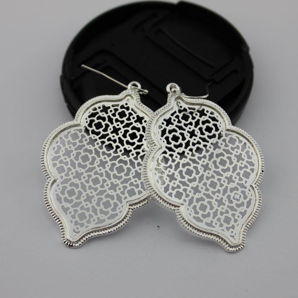 Two Tone Perak Filigree Maroko Earrings untuk Wanita 2018 Hot - Perhiasan fashion - Foto 3
