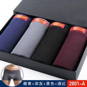 Image 4 - 4Pcs Men Modal Underwear Boxer 4XL 5XL 6XL Plus Size Bigger Size Underpants Breathable Masculinas Calzoncillos Boxer Homme