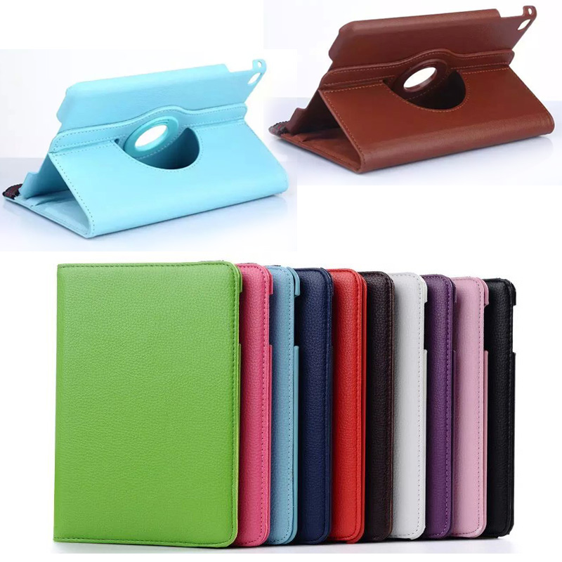 360 Degrees Rotating PU Leather Case Stand Cover funda for Apple ipad mini 4 Tab
