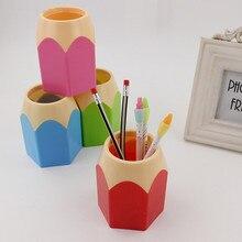 Аккуратный щетку карандаша ваза рабочий творческие контейнер популярные ручки канцелярские стол