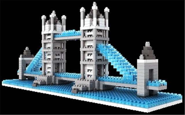 World Famous Architecture Buildings aliexpress : buy loz tower bridge 3d buildings construction