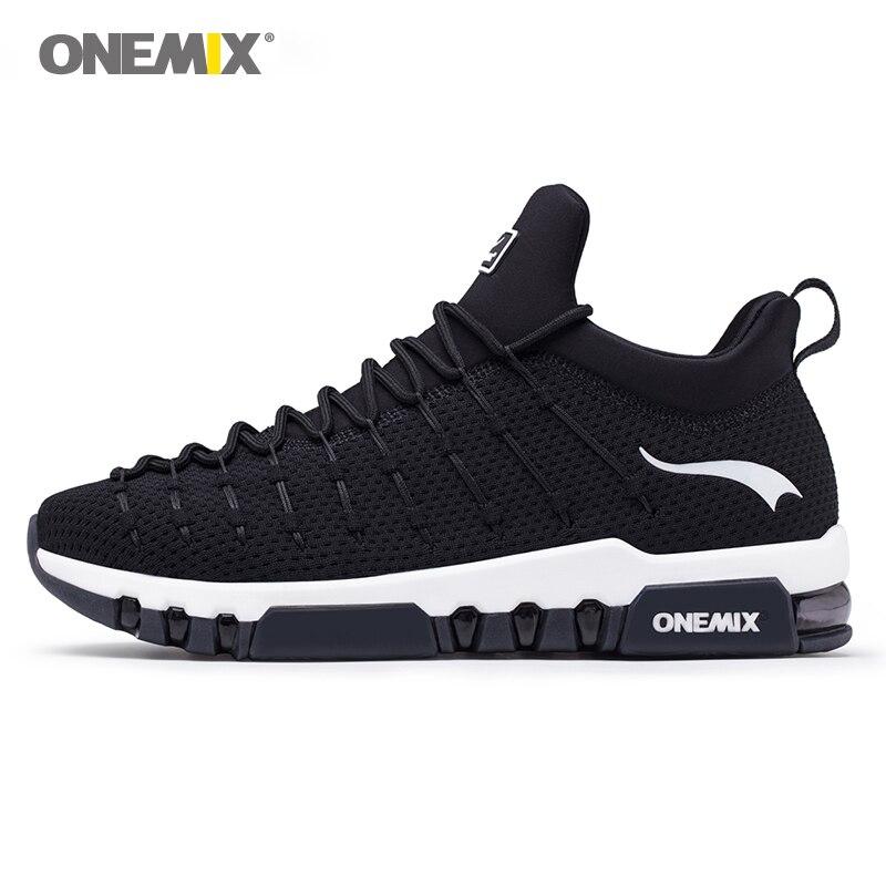 Onemix chaussures de course pour hommes chaussures de marche pour les femmes lumière respirant doux semelle pour en plein air trekking marche exécution sneakers