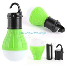 Portable Hanging Hook 3LED Camping Tent Light Outdoor Fishing Lantern Lamp Torch #H028#