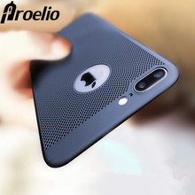 Proelio Heat Dissipation Phone Cases For iphone 7 8 6 6s plus Case Hard Back PC Full Protect Cover for iPhone 5 5S SE Case Shell