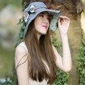 Kentucky Derby Sombreros Para Mujeres Flor Sombreros del Cubo de Playa de Verano de Las Señoras Sombreros Mujer Gorros Chapeu Casquette Tocas Feminina Femme