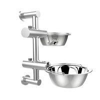 LUDA Lifting Feeding Bowl For Dog Stainless Steel Adjustable Non Slip Pet Bowl Food Bowl