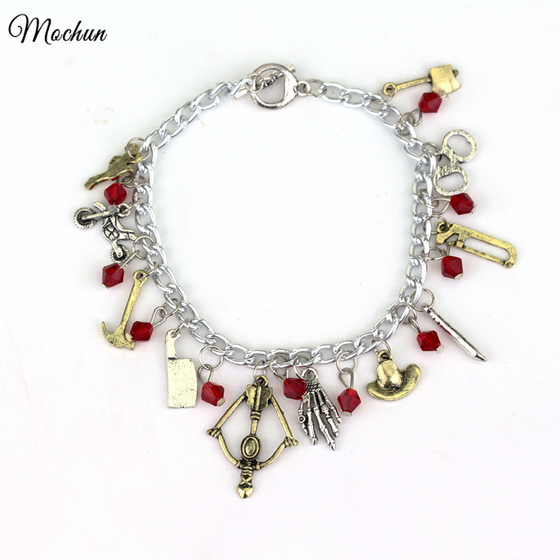 MQCHUN The Walking Dead Charm Bracelet High Quality Punk Style Gift For Man And Women Move Jewelry Drop Shipping