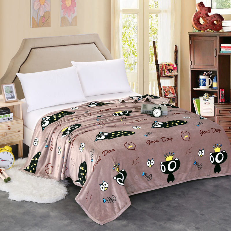 home textile winter High Density Super Soft fleece blanket gray sofa blanket sheepskin blanket children blanket on the bed