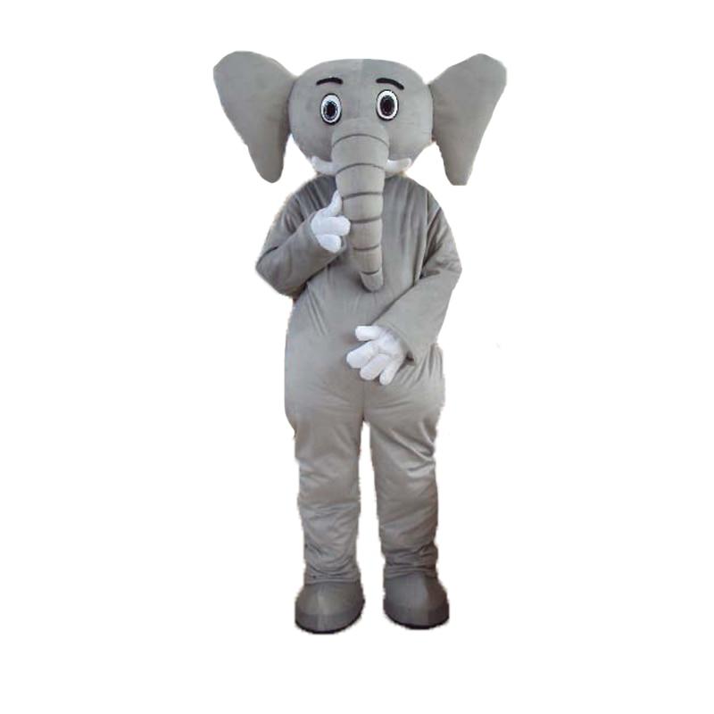 ᓂ2014 de alta calidad gris elefante mascota traje adulto gris ...