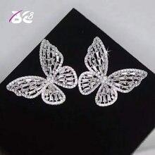 Модные ажурные ювелирные изделия be 8 в форме бабочки из фианита