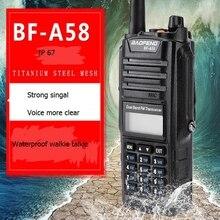 Baofeng BF A58 портативная рация 136-174 мГц 400-520 мГц двухдиапазонный УКВ мощный портативная рация для охоты CB радиолюбителей трансивер