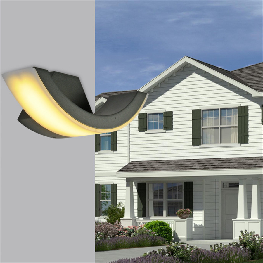 ZINUO 8W LED Outdoor Lamp AC85-265V Waterproof Fixture Wall Mounted Garden Light Corridor Wall Lamp Hotel Light Warm White,White