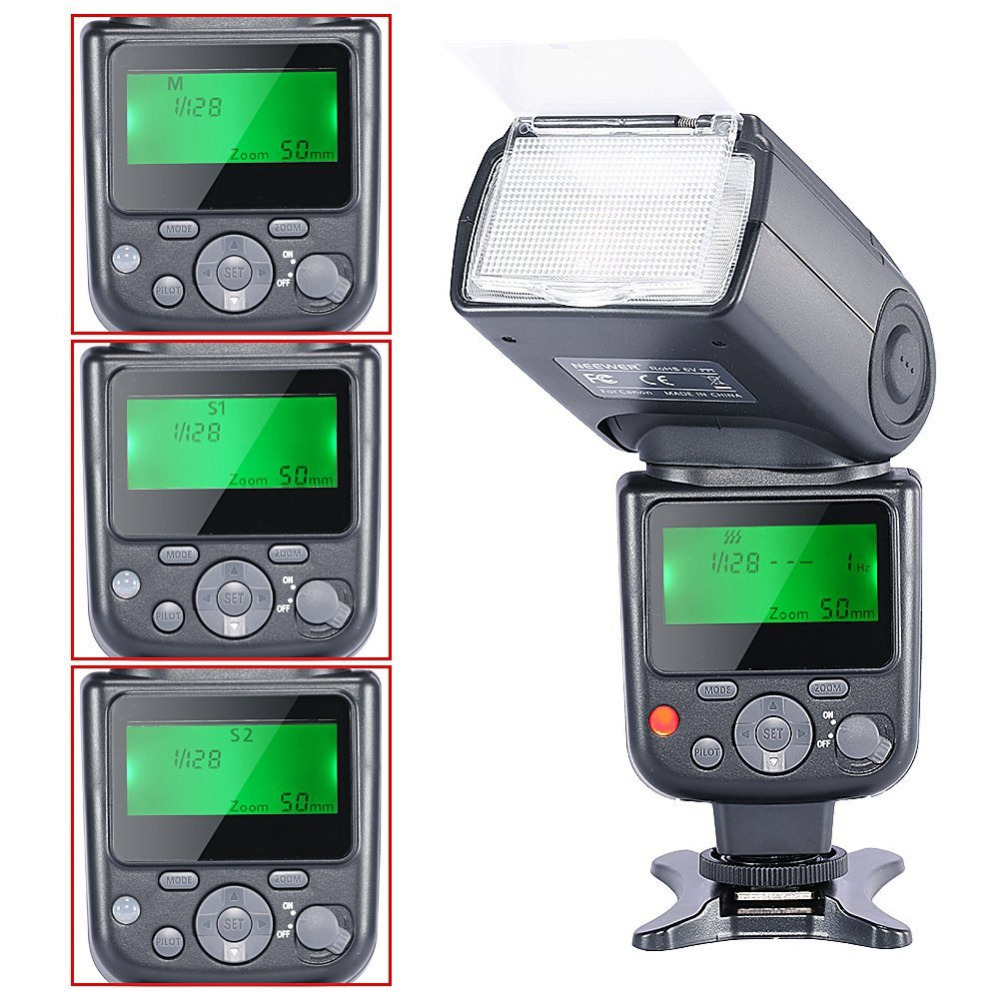 Neewer NW-670 TTL Flash Speedlite with LCD Display for Canon 7D Mark II,5D Mark II III,IV,1300D,1200D1100D and Other Canon DSLR кроссовки other gazelle ii q23104 820