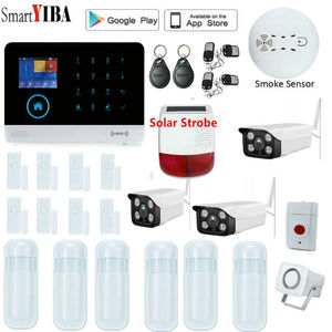 SmartYIBA WIFI GSM сигнализация Охранная Домашняя GSM Сигнализация приложение управление сигнализация Русский Испанский Английский Французский ит...