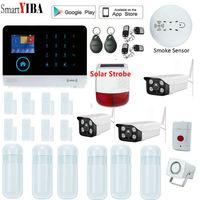 SmartYIBA Wi Fi GSM сигнализация Охранная Домашняя GSM Сигнализация приложение контроль сигнализации Русский Испанский Английский Французский итал