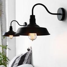 Dormitorio Retro vanidad Edison lámpara negro/blanco de iluminación luces para pared de loft iluminación interior LED