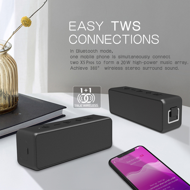 20W Wireless Bluetooth Speaker Waterproof Portable Super Bass Subwoofer Soundbar Support Type C USB TF Card for Computer Speaker in Portable Speakers from Consumer Electronics