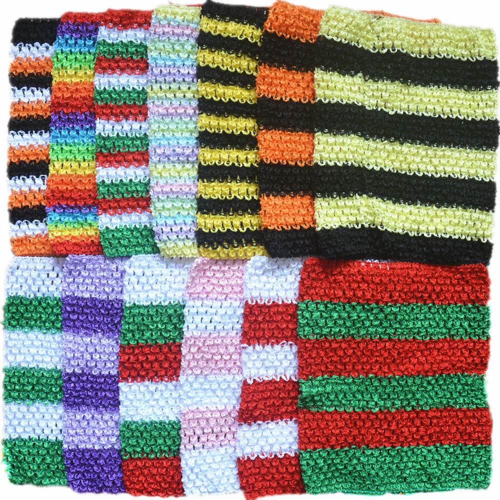 Wholesale 45pcs/lot 9 Inch Crochet Dress Tube woman Stretch Colored Headband 43 Color in stock Diy Accessory H018-in Hair Accessories from Mother & Kids    1