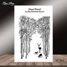 ZhuoAng Christmas tree reindeer style Clear Stamps/Seal For DIY Scrapbooking/Card Making/Album Decorative Silicon Stamp Crafts(China)
