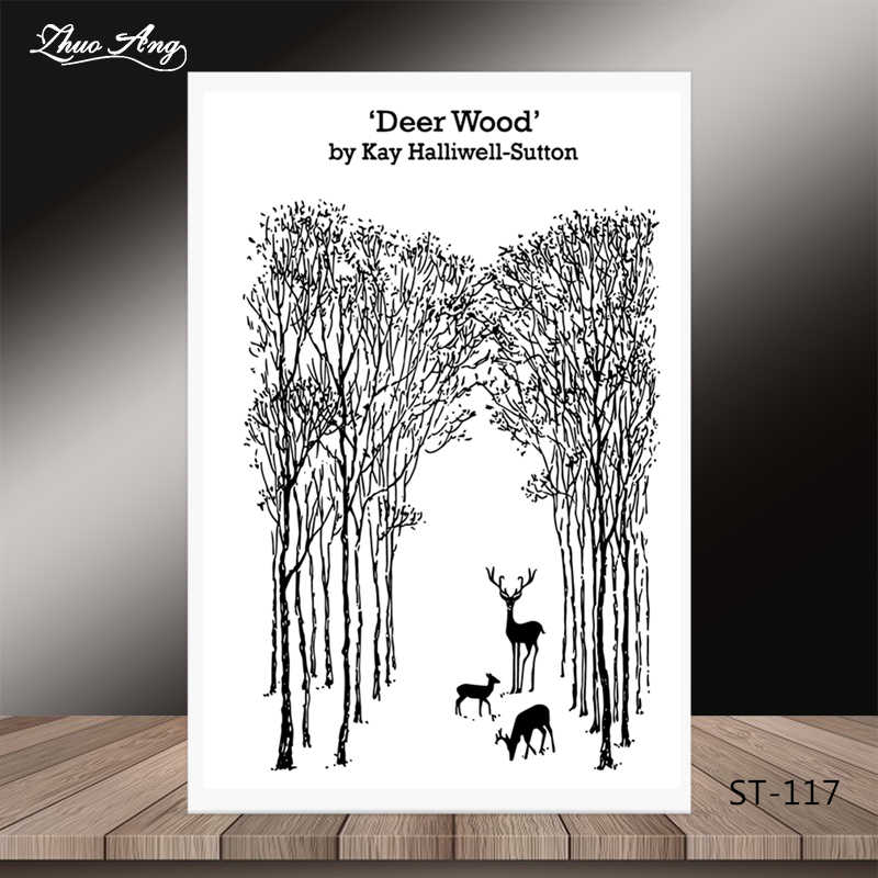 ZhuoAng Christmas tree reindeer style Clear Stamps/Seal For DIY Scrapbooking/Card Making/Album Decorative Silicon Stamp Crafts