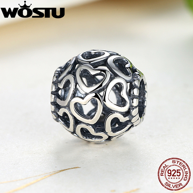 Aliexpress buy wholesale 925 sterling silver openwork heart wholesale 925 sterling silver openwork heart love charm fit original wst bracelet pendants authentic diy jewelry mozeypictures Gallery