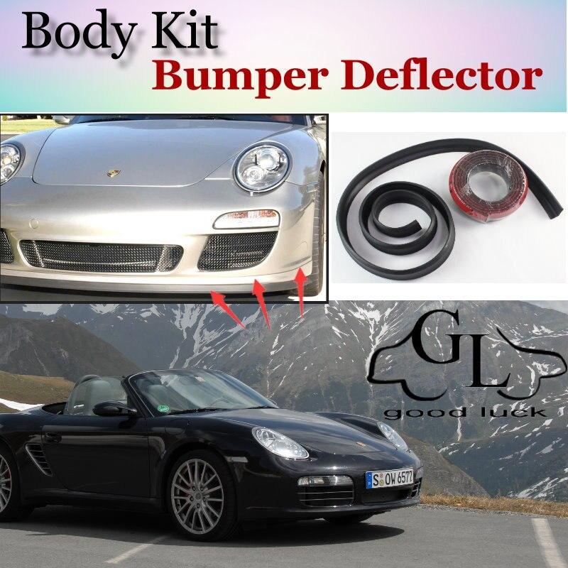 For Porsche Cayman 987 987C 981 981C Bumper Lip Lips / Car Lip Shop Spoiler For Car Tuning / TOPGEAR Body Kit + Strip
