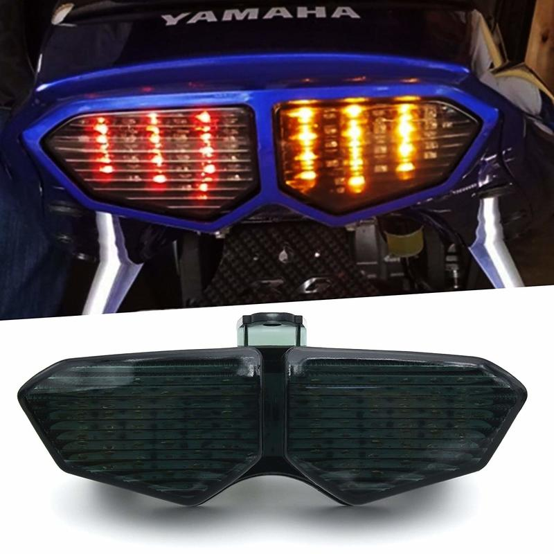 Super Bright Integrated LED Tail Light, Motorcycle Brake Stop Turn Signal Lamp, Waterproof Rear Position Light For Yamaha YZF R6