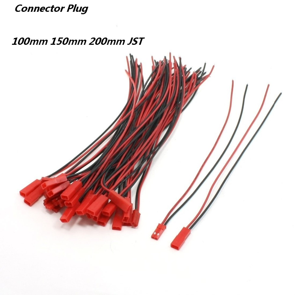 20pair/lot 100mm 150mm 200mm JST Male Female Connector Plug For RC Lipo Battery