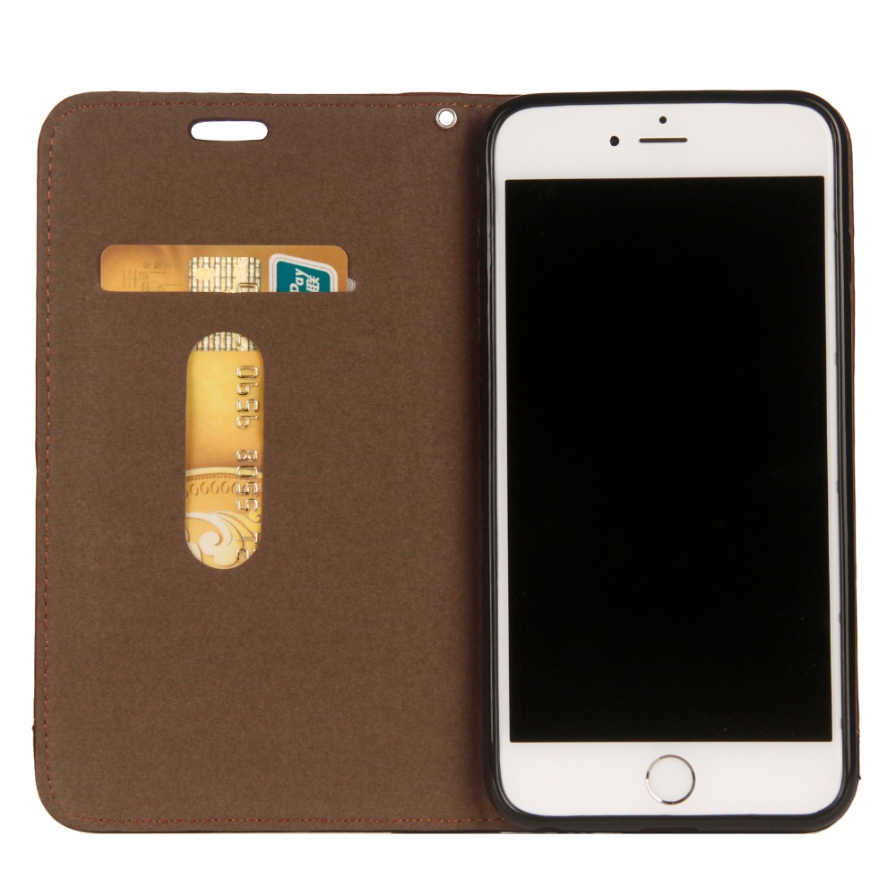 Case For IPhone 7 6 8 Plus X XS MAX Luxury Fashion Flip Case Genuine Leather Wallet Case For IPhone 5se XS Cowhide Pouch Cases in Flip Cases from Cellphones Telecommunications