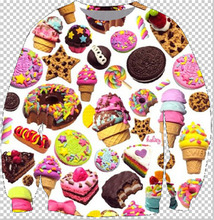 2015 New Harajuku style men/womens hoodies Donut ice cream print 3d sweatshirts Unisex Jumper plus size S-3XL Free shipping