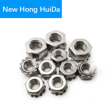 M3 M4 M5 M6 M8 External Tooth Gear Hex Hexagon K Lock Kep Type Nut 304Stainless Steel