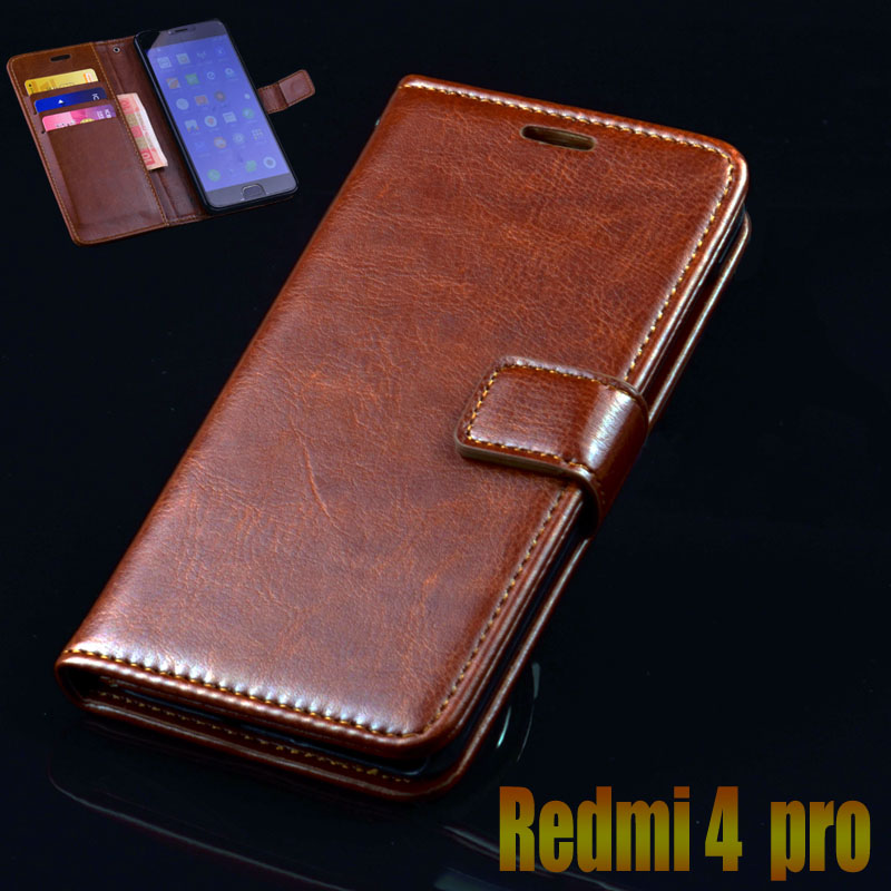 Xiaomi Redmi 4 Pro Case Wallet Leather Flip Cover For Xiaomi Redmi 4 Pro Prime Cases Luxury Stand Card Holders Phone Bags Case