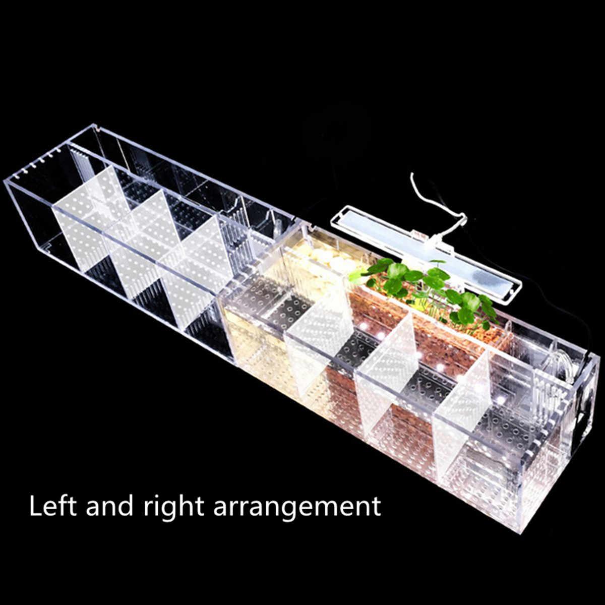 Аквариумный питомец Betta аквариум акриловый прозрачный изолирующий водяной насос Фильтры прозрачное ведро аквариум Настольный светодиодный светильник