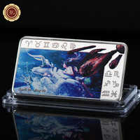 WR Twelve Constellations Taurus Silver Bar  Zodiac Color Souvenir Bars Metal Crafts Unique Gifts Lucky Items for Collection