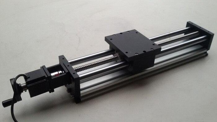 Système de mouvement linéaire de vis à billes glissière à vis glissière électrique course de glissière 400