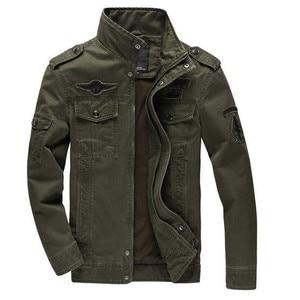 Image 2 - 2020 kurtka wojskowa mężczyźni dżinsy Casual Cotton Coat Plus rozmiar 6XL armia Bomber taktyczna kurtka lotnicza jesienne zimowe kurtki Cargo
