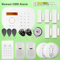 GS S2G Home Security GSM Alarme Systems W RFID Tags Touch Keypad LCD Display English Word