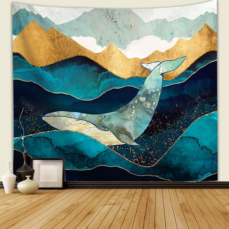 Nordic style tapestry hippie mandala wall hanging Bohemian bedspread dorm decor tapestries Landscape scenery