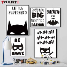 Superhero Batman Hippie Quotes Canvas Painting Kids Room Decoration Poster Wall Decor Picture For Living Home