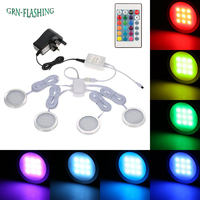 RGB led under cabinet light multi color lamp for Kitchen Display Closet Book Shelf closet and bedroom with a controller