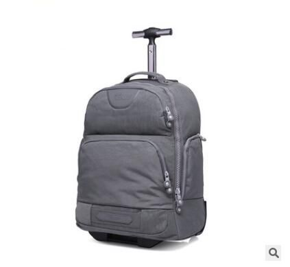 Double Use Travel Boarding bag on wheels trolley travel cabin luggage suitcase nylon wheeled travel backpack bag Travel Duffle universal uheels trolley travel suitcase double shoulder backpack bag with rolling multilayer school bag commercial luggage