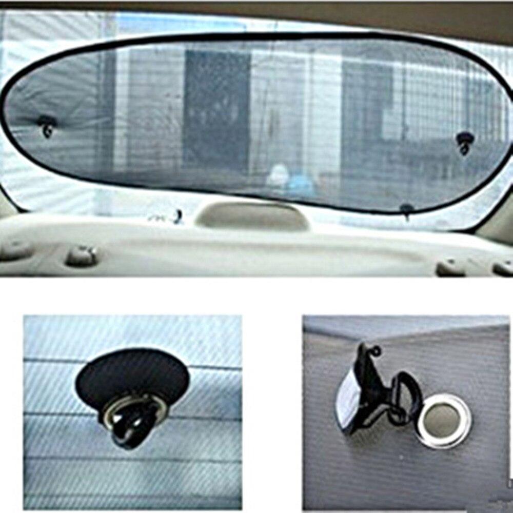 Free Shipping Black Car Rear Back Window Sunscreen Sun Shade Visor Cover Mesh Shield 50x100 CM Window Foils & Solar Protection